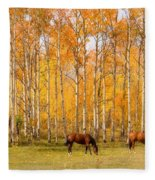 Colorful Autumn High Country Landscape Fleece Blanket