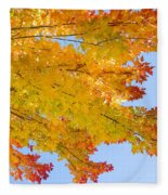 Colorful Autumn Reaching Out Fleece Blanket