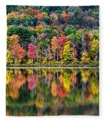 Colorful Autumn Reflections Fleece Blanket
