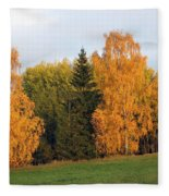 Colorful Autumn - Trees In Autumn Fleece Blanket