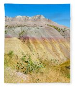 Colorful Badlands Of South Dakota Fleece Blanket