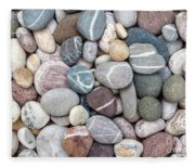Colorful Beach Pebbles Fleece Blanket