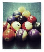 Colorful Billiard Balls Fleece Blanket