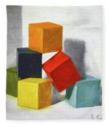 Colorful Blocks Fleece Blanket