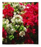 Colorful Bougainvilleas Fleece Blanket