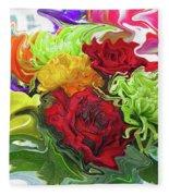 Colorful Bouquet Fleece Blanket