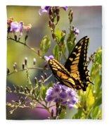 Colorful Butterfly Fleece Blanket