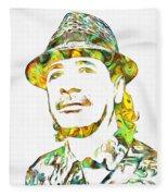 Colorful Carlos Santana Fleece Blanket