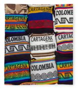 Colorful Cartagena Fleece Blanket