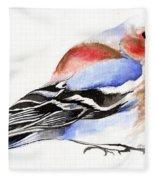 Colorful Chaffinch Fleece Blanket