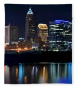 Colorful Cleveland Fleece Blanket