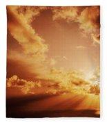 Colorful Cloudburst Fleece Blanket
