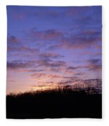 Colorful Clouds In The Sky Fleece Blanket
