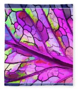 Colorful Coleus Abstract 3 Fleece Blanket