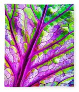 Colorful Coleus Abstract 1 Fleece Blanket