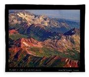 Colorful Colorado Rocky Mountains Planet Art Poster  Fleece Blanket