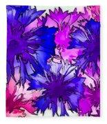 Colorful Cornflowers Fleece Blanket