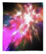 Colorful Cosmos Fleece Blanket