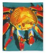 Colorful Crab II Fleece Blanket