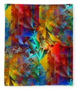 Colorful Crash 11 Fleece Blanket