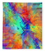 Colorful Crash 9 Fleece Blanket