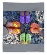Colorful Crocs Fleece Blanket