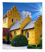 Colorful Danish Church Fleece Blanket