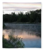 Colorful Dawn Reflections Fleece Blanket