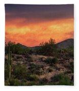 Colorful Desert Skies At Sunset  Fleece Blanket