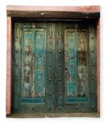 Colorful Doors Antigua Guatemala Fleece Blanket