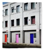 Colorful Doors- By Linda Woods Fleece Blanket