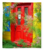 Colorful Entrance ... Fleece Blanket