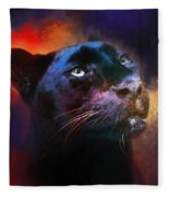 Colorful Expressions Black Leopard Fleece Blanket