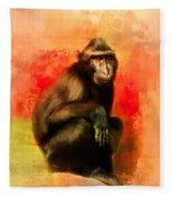 Colorful Expressions Black Monkey Fleece Blanket