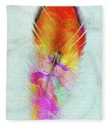 Colorful Feather Art Fleece Blanket