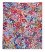 Colorful Floral Bouquet. Fleece Blanket