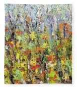 Colorful Forest Fleece Blanket