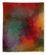 Colorful Geometric Pattern Abstract Art Fleece Blanket