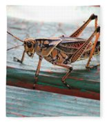Colorful Grasshopper Fleece Blanket
