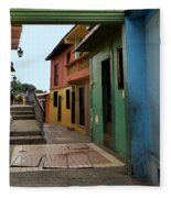 Colorful Guayaquil Alley Fleece Blanket
