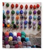 Colorful Hats Fleece Blanket
