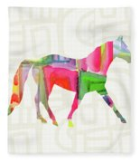 Colorful Horse 1- Art By Linda Woods Fleece Blanket