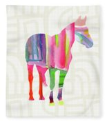 Colorful Horse 2- Art By Linda Woods Fleece Blanket