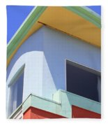 Colorful House In San Francisco Fleece Blanket