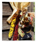 Colorful Indian Corn Decorations Fleece Blanket