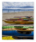 Colorful Kayaks Fleece Blanket