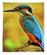 Colorful Kingfisher Fleece Blanket