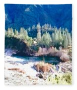 Colorful Landscape Fleece Blanket