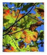 Colorful Leaves Fleece Blanket