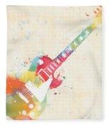 Colorful Les Paul Fleece Blanket